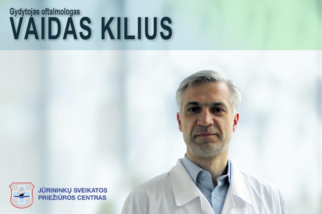 Konsultacija pas gydytoją oftalmologą Vaidą Kilių