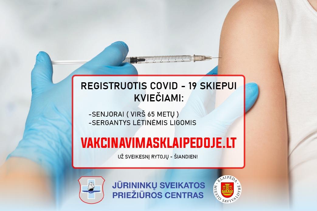 Klaipėdoje startuoja e-registravimo sistema – vakcinavimasklaipedoje.lt
